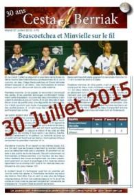 CESTA BERRIAK MASTER 4 DEMI FINALE du 30 Juillet 2015