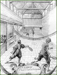 sport issu du jeu de paume pratiqué dans le sud-ouest de la France